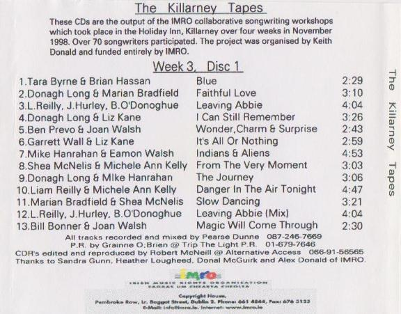 Joan Walsh IMRO Killarney 1998 Disc 1