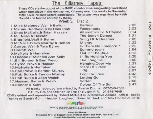 Joan Walsh IMRO Killarney 1998 Disc 2