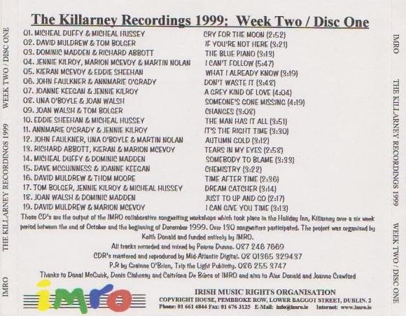 Joan Walsh IMRO Killarney 1999 Disc 1