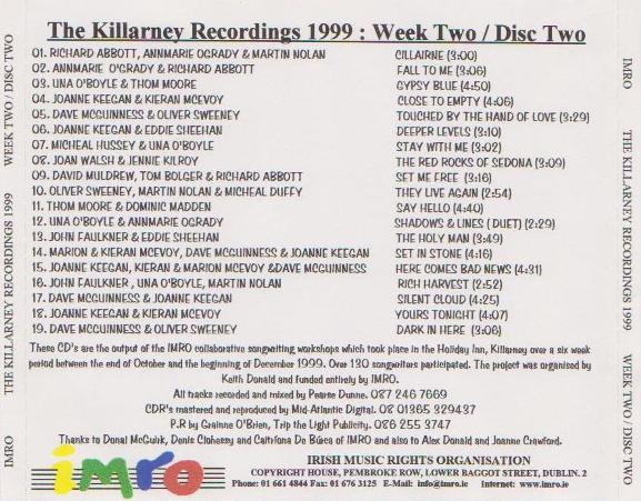 Joan Walsh IMRO Killarney 1999 Disc 2