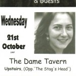 Joan Walsh Event @ The Dame Tavern 1997