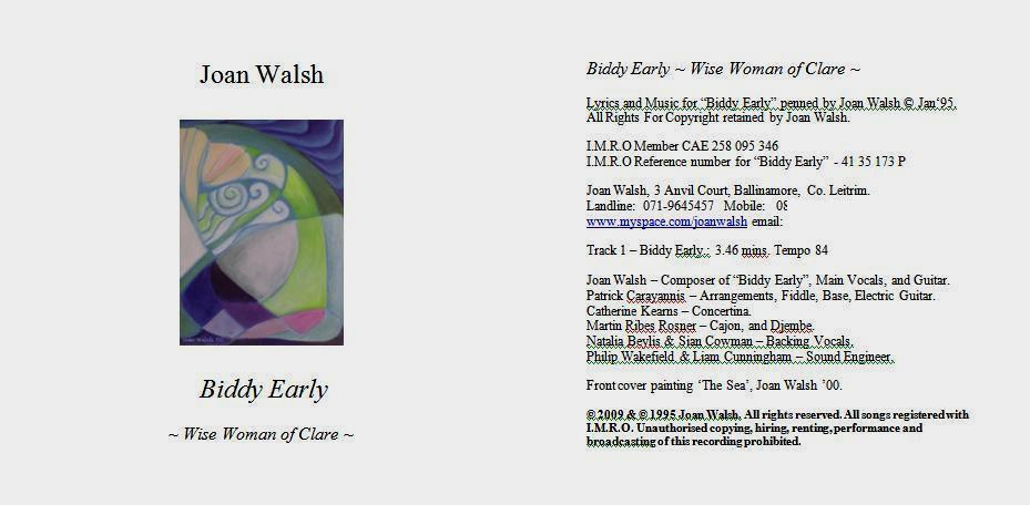 Joan Walsh Biddy Early CD Cover 2009