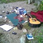 Song practise by Garadice Lake...2008