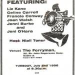 Joan Walsh - Songwriters' Night @ The Ferryman 1996